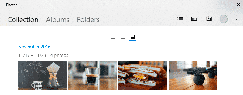 Photos Windows 10